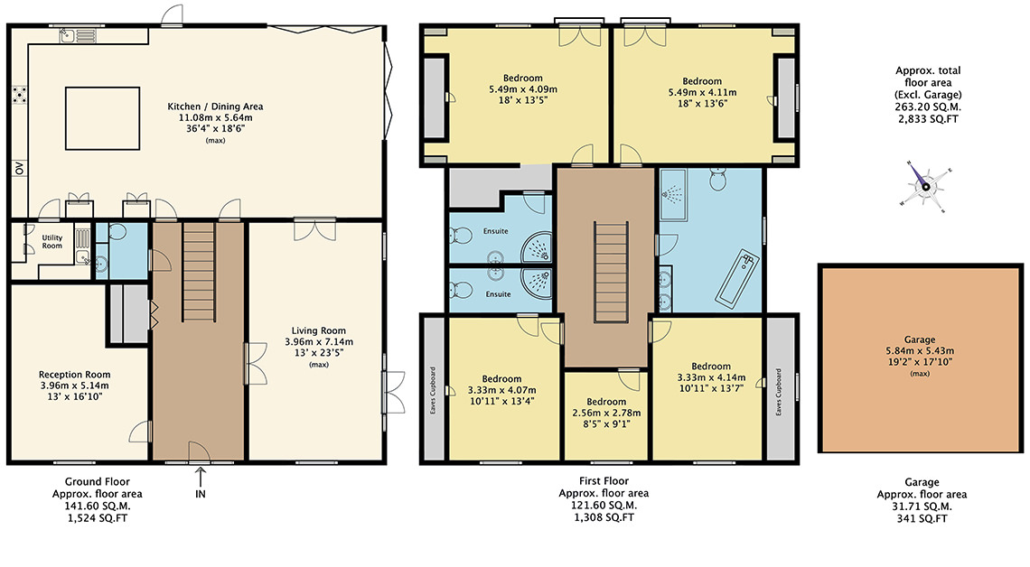 Detailed floor plan drawing of a property