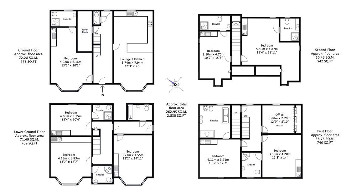 Floor plan of a large residential property
