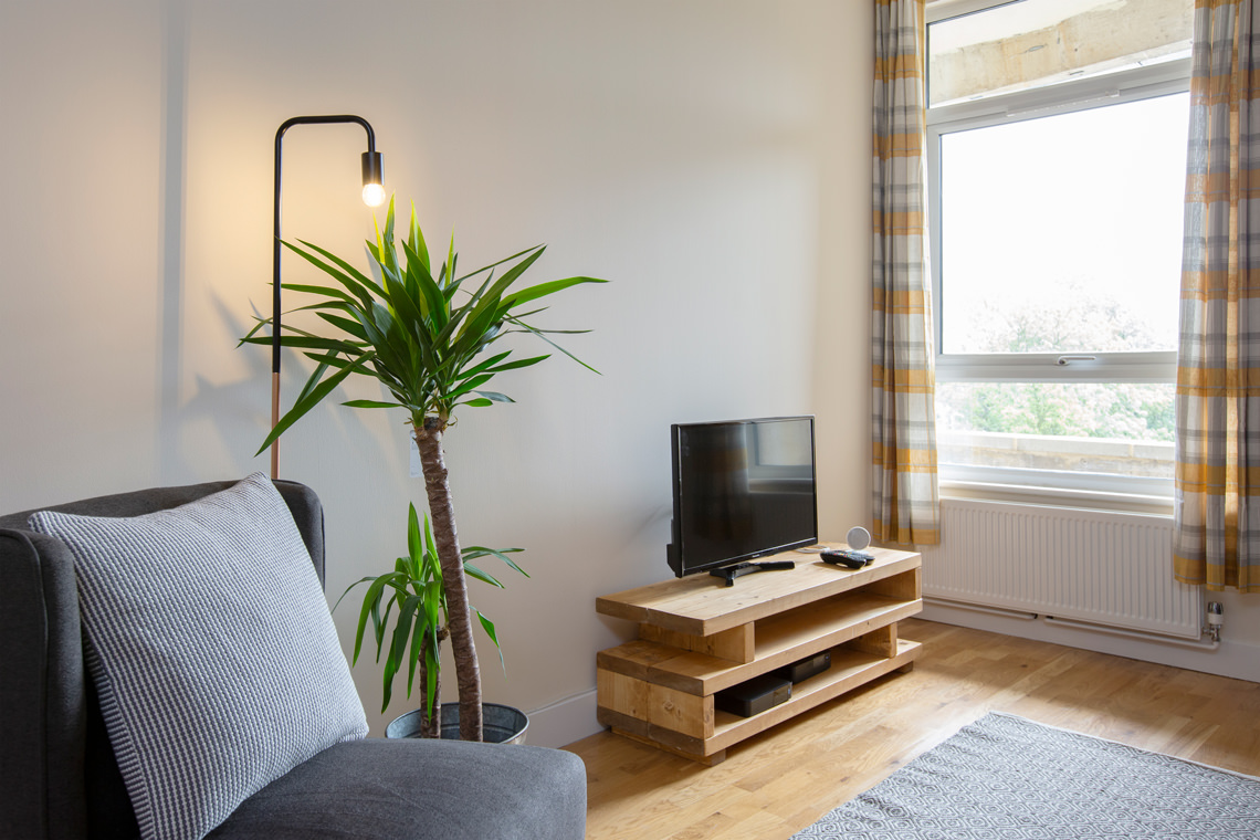 Vacation rental living room professional photography