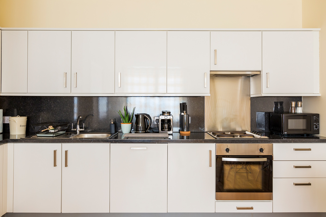 Kitchen of a serviced apartment