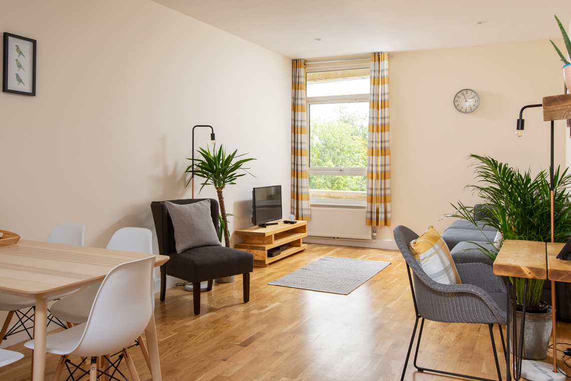 Professional photography of an Ashford serviced apartment