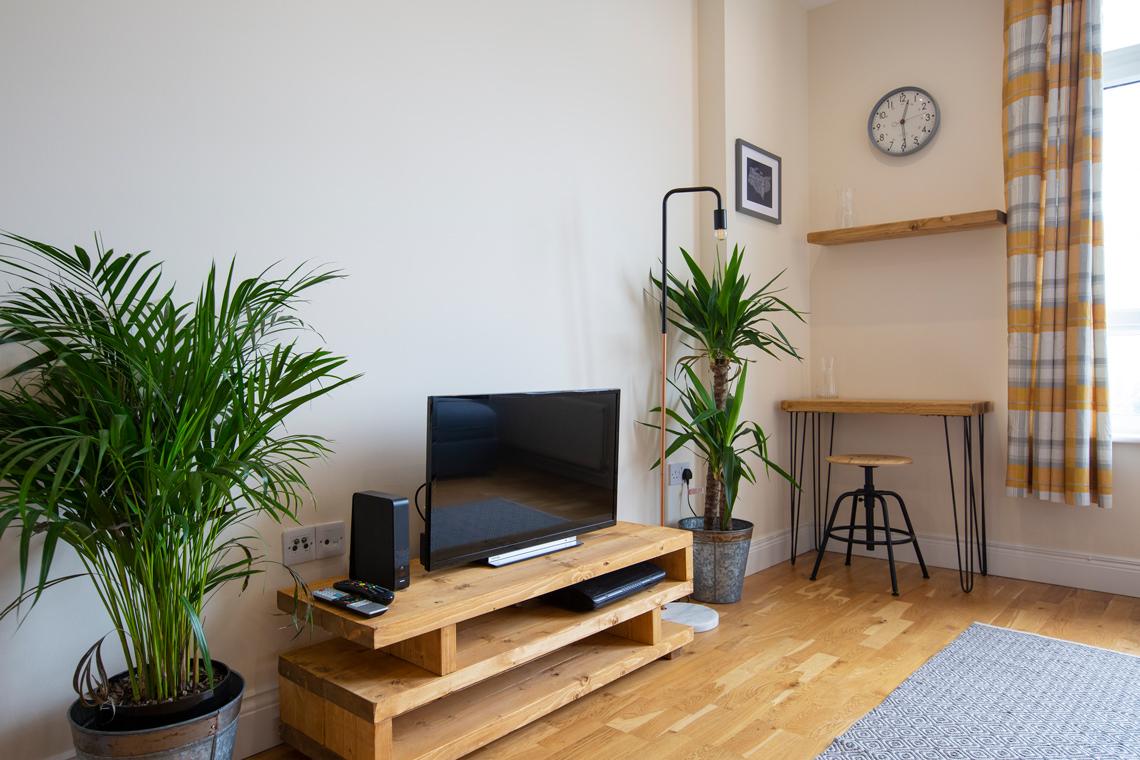 Close up of a serviced apartment living room